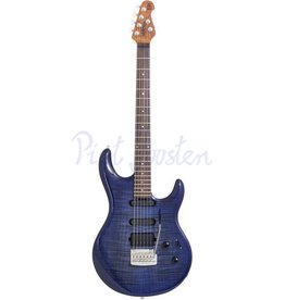 Music Man Luke 3 HSS BFR Elektrisch gitaar Blueberry Burst Flame +Case