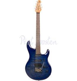 Music Man Luke 3 HSS BFR Elektrisch gitaar Blueberry Burst Quilt +Case