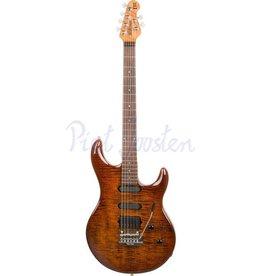 Music Man Luke 3 HSS BFR Elektrisch gitaar Hazel Burst Flame +Case