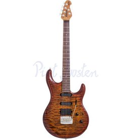 Music Man Luke 3 HSS BFR Elektrisch gitaar Hazel Burst Quilt +Case