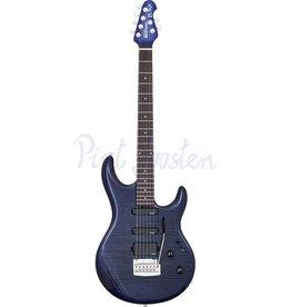 Music Man Luke BFR Elektrisch gitaar Blueberry Burst Flame +Case