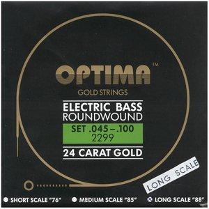 Optima 2299LS 4-Snarige basgitaarsnaren Gold