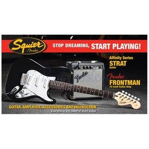 Squier Affinity Strat met Fender Frontman 10G Amp Starterset Black