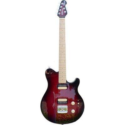 Music Man Axis Super Sport Elektrische gitaar Standard Black Cherry Burst MH +Case