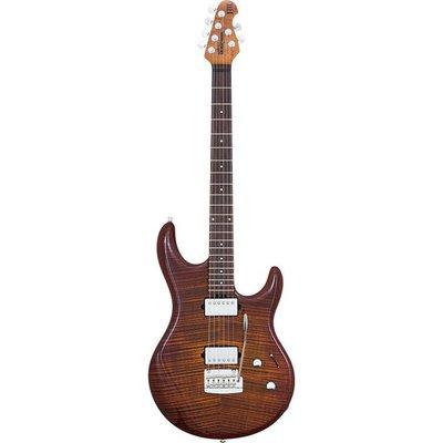 Music Man Luke 3 HH BFR Elektrische gitaar Hazel Burst Flame +Case