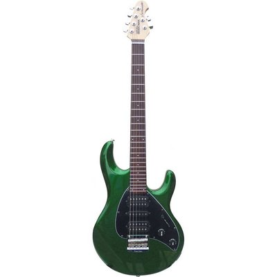 Music Man PDN Silhouette Elektrische gitaar Standard Emerald Green Sparkle +Case