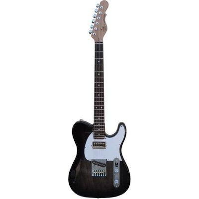 G&L ASAT Classic Bluesboy Semi Hollow Elektrische gitaar Blackburst +Case