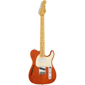 G&L Tribute ASAT Classic Bluesboy Semi-Hollow Elektrische gitaar Clear Orange