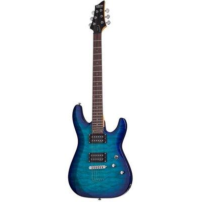 Schecter C-6 Plus Elektrische gitaar Ocean Blue Burst
