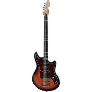 Schecter Hellcat VI Baritone gitaar 3-Tone Sunburst