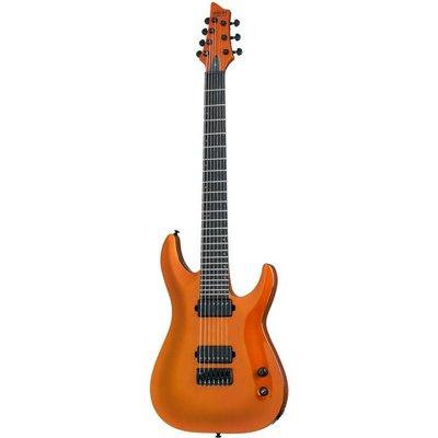 Schecter Keith Merrow KM-7 Elektrisch gitaar Lambo Orange