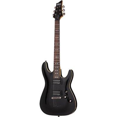 Schecter Omen-6 Elektrische gitaar Black
