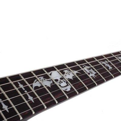 Schecter Synyster Gates Standard Elektrische gitaar Black w/ Silver Pin Stripes