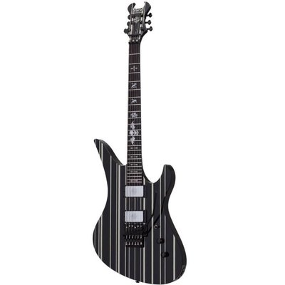 Schecter Synyster Gates Custom Elektrische gitaar Black w/ Silver Pinstripes