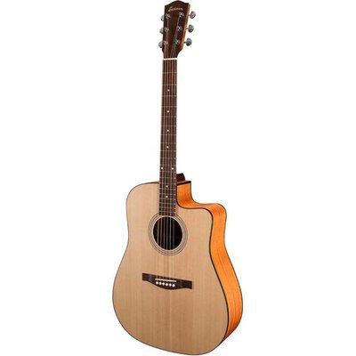 Eastman AC120CE Akoestische gitaar Dreadnought Natural Satin +Gigbag