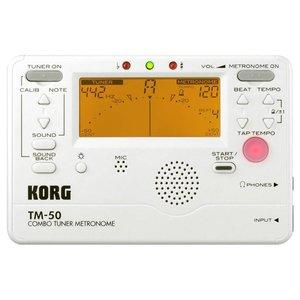 Korg TM50PW Combo Tuner Metronome Pearl White