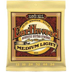 Ernie Ball 2003 Snaren Earthwood 80/20 Bronze Medium Light