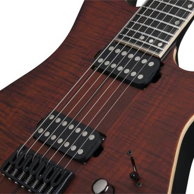 Schecter Banshee Elite-7 Elektrische gitaar Cat's Eye Pearl