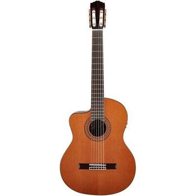 Salvador Cortez CC60LCE Klassieke gitaar met cutaway en element Left Natural +Case