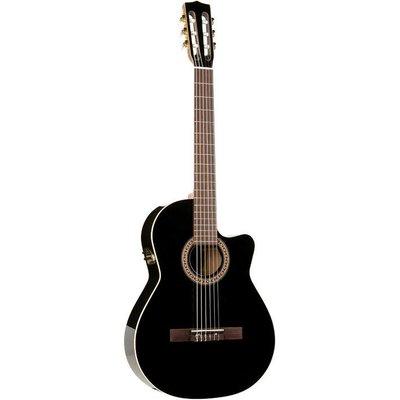 La Patrie Hybrid CW Quantum II Klassieke gitaar Black +Case