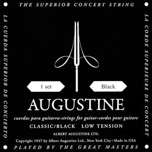 Augustine Classic Black Nylon gitaarsnaren Low Tension