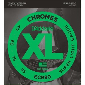 D'Addario ECB80 Snaren Chromes Super Light