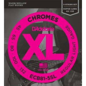 D'Addario ECB81-5SL Snaren Chromes Regular Light