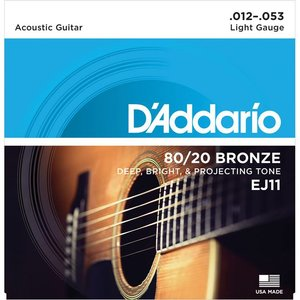 D'Addario EJ11 Snaren 80/20 Bronze Light
