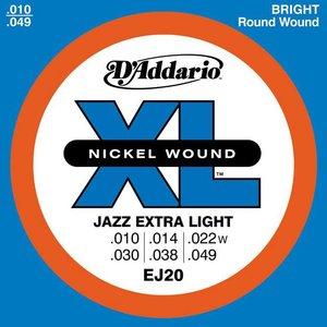 D'Addario EJ20 Snaren Nickel Wound Jazz Extra Light