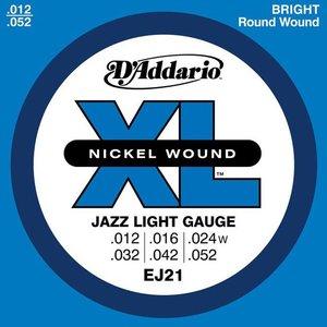 D'Addario EJ21 Snaren Nickel Wound Jazz Light