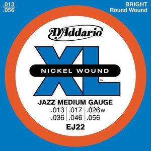 D'Addario EJ22 Snaren Nickel Wound Jazz Medium