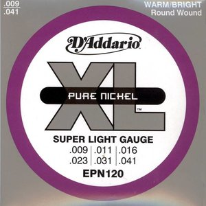 D'Addario EPN120 Snaren Pure Nickel Super Light