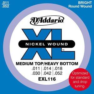 D'Addario EXL116 Snaren Nickel Wound Med Top/Heavy BTM