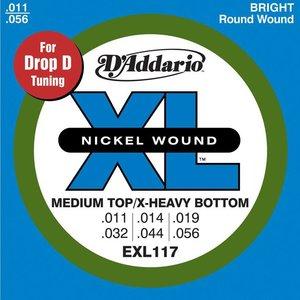 D'Addario EXL117 Snaren Nickel Wound Med Top/-X Heavy BTM