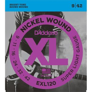 D'Addario EXL120 Snaren Nickel Wound Super Light