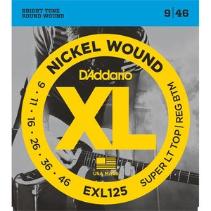 D'Addario EXL125 Snaren Nickel Wound Super LT Top/Reg BTM
