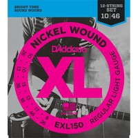 D'Addario EXL150 Snaren Nickel Wound Regular Light 12-String