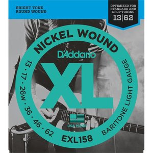 D'Addario EXL158 Snaren Nickel Wound Baritone Light