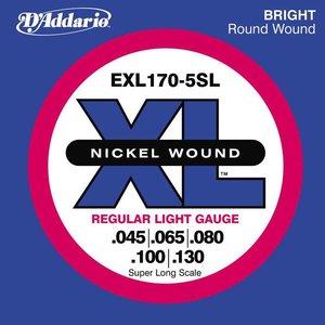 D'Addario EXL170-5SL Snaren Nickel Wound Regular Light