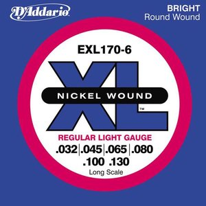 D'Addario EXL170-6 Snaren Nickel Wound Regular Light