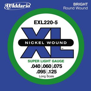 D'Addario EXL220-5 Snaren Nickel Wound Super Light