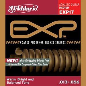 D'Addario EXP17 Snaren Coated Phosphor Bronze Medium