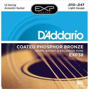 D'Addario EXP38 Snaren Coated Phosphor Bronze Light  12-String
