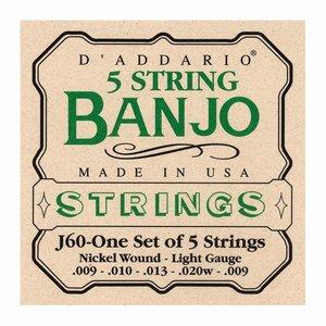 D'Addario J60 5-Snarige banjosnaren Light