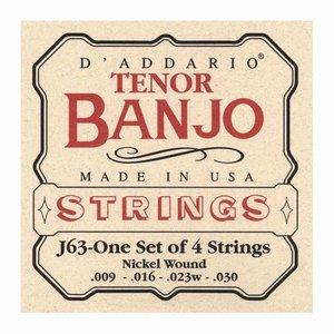 D'Addario J63 4-Snarige banjosnaren Tenor