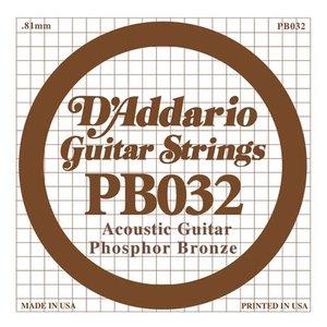 D'Addario PB032 Snaar Phosphor Bronze