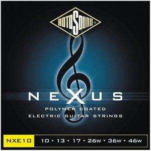 Rotosound NXE10 Elektrisch gitaarsnaren Nexus Black Coated Regular