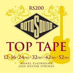 Rotosound RS200 Snaren Top Tape Monel Flatwound