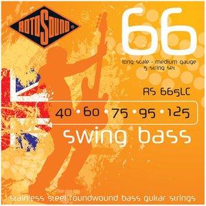 Rotosound RS665LC 5-Snarige basgitaarsnaren Swing Bass Medium
