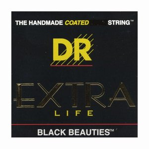 DR Strings BKE-10 Snaren Extra-Life Black Beauties Medium